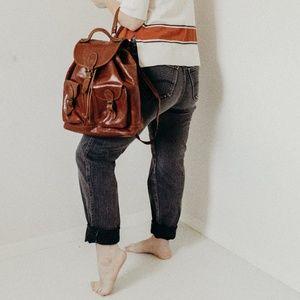 Handbags - Vintage Distressed Leather Backpack